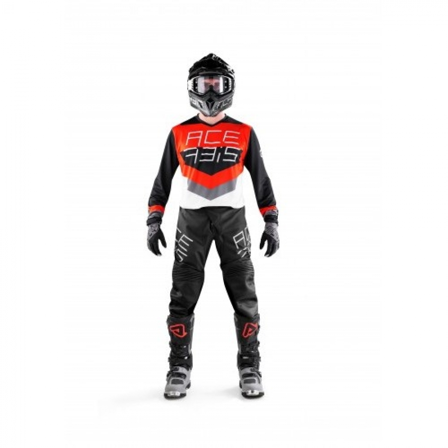 MX TRACK JERSEY BLACK RED